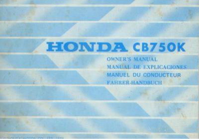 HondaCB750KOwnersMan [website]