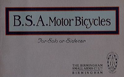 BSAMotorBicyclesSoloSidecar1914Repl