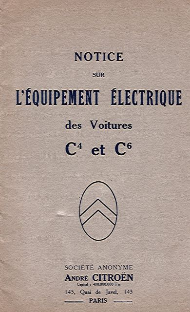 CitroenNoticeLEquipementElectriqueC4C6