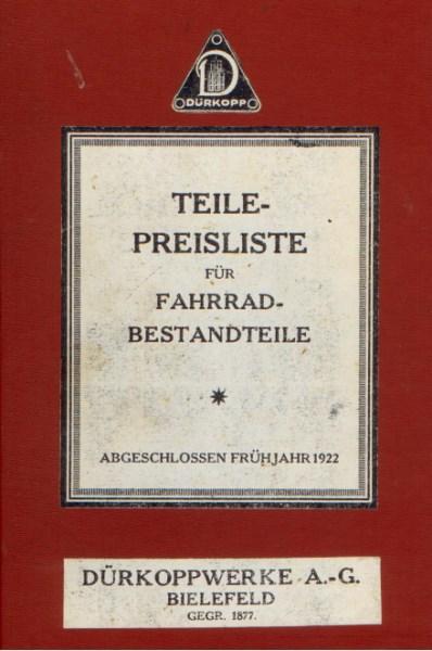 DuerkoppTeilePreislisteFahrrad1922 [website]