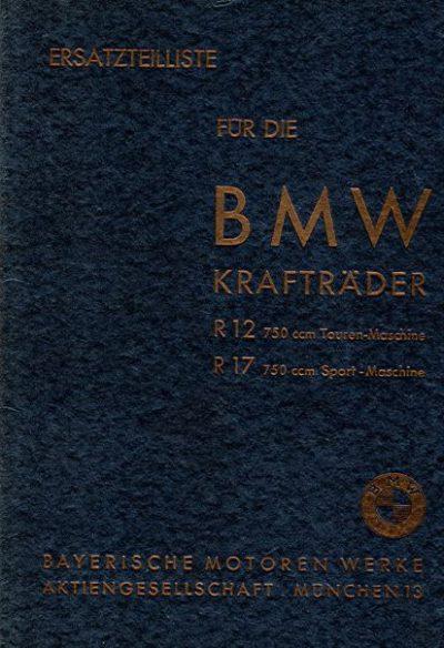 ErsatzteillisteBMWKraftraederR12R17
