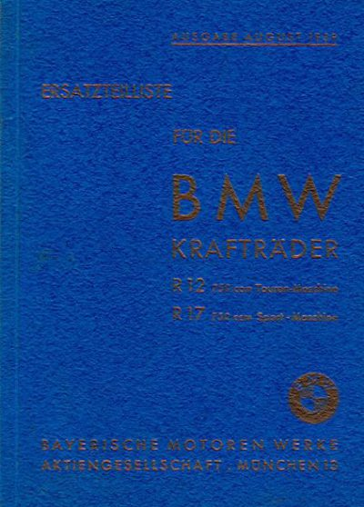 ErsatzteillisteBMWKraftraederR12R17-Aug1939