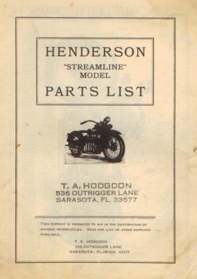 HendersonStreamlineModelPartsListrepl [website]
