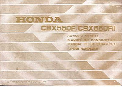 HondaCBX550FOwnersMan