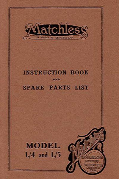 MatchlessInstructBookL4L5Replica