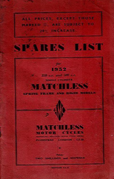 MatchlessSparesList1952