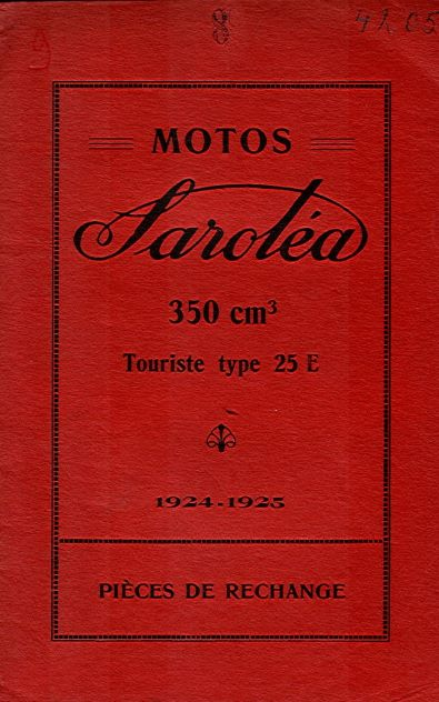 MotoSaroleaPiecesRechange1924-1925