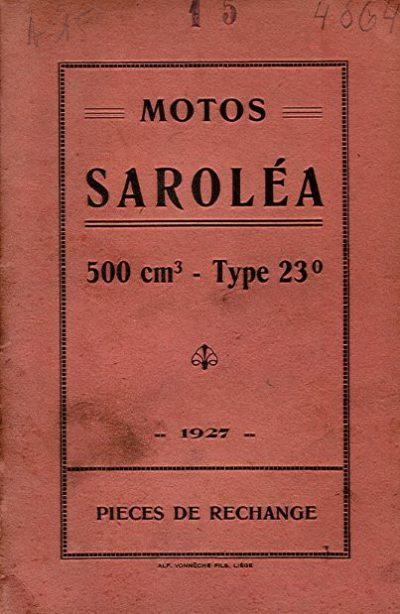 MotoSaroleaPiecesRechange1927