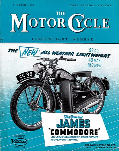 MotorCycle8March1951LightweightNumber