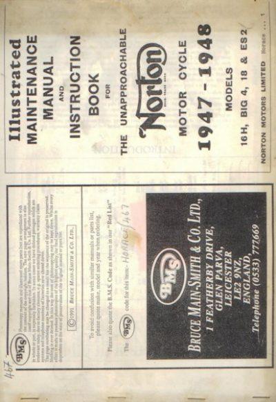 NortonIllMaintInstructBook1947BMS [website]