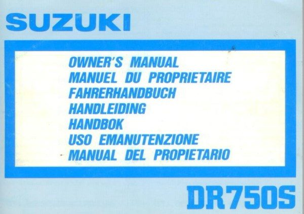 SuzukiDR750SOwnersManual [website]