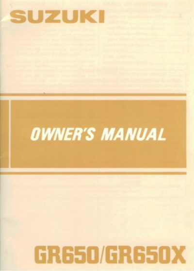 SuzukiGR650-GR650XOwnersManual [website]