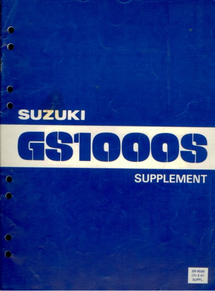 Suzuki Gs1000s Supplement