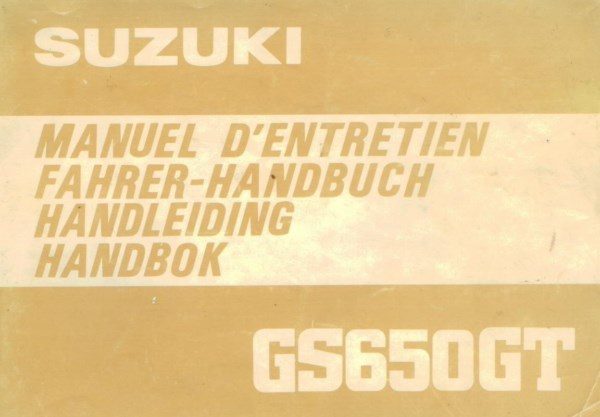 SuzukiGS650GTHandleiding [website]