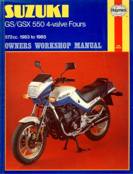 SUZUKI GS / GSX 550 4-VALVE FOURS OWNERS WORKSHOP MANUAL – NEW