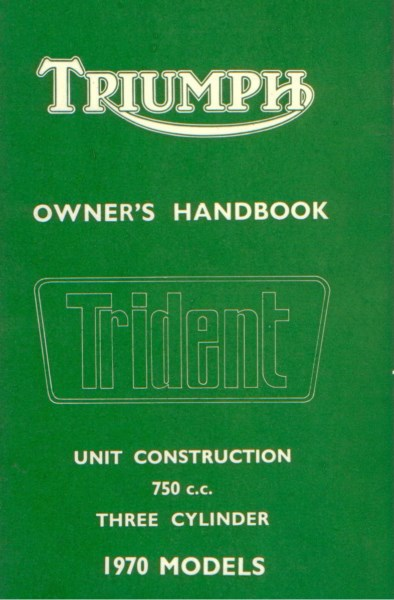 TriumphOwnersHandbookTrident1970Models [website]