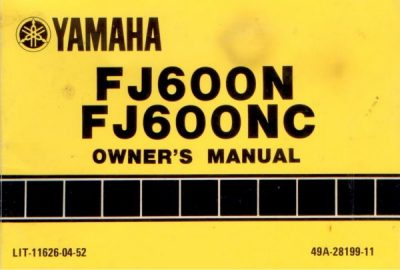 YamahaFJ600OwnersManual [website]