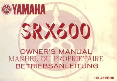 YamahaSRX600OwnersMan [website]